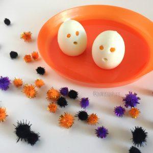 Creepy Ghost Hard Boiled Egg Snacks