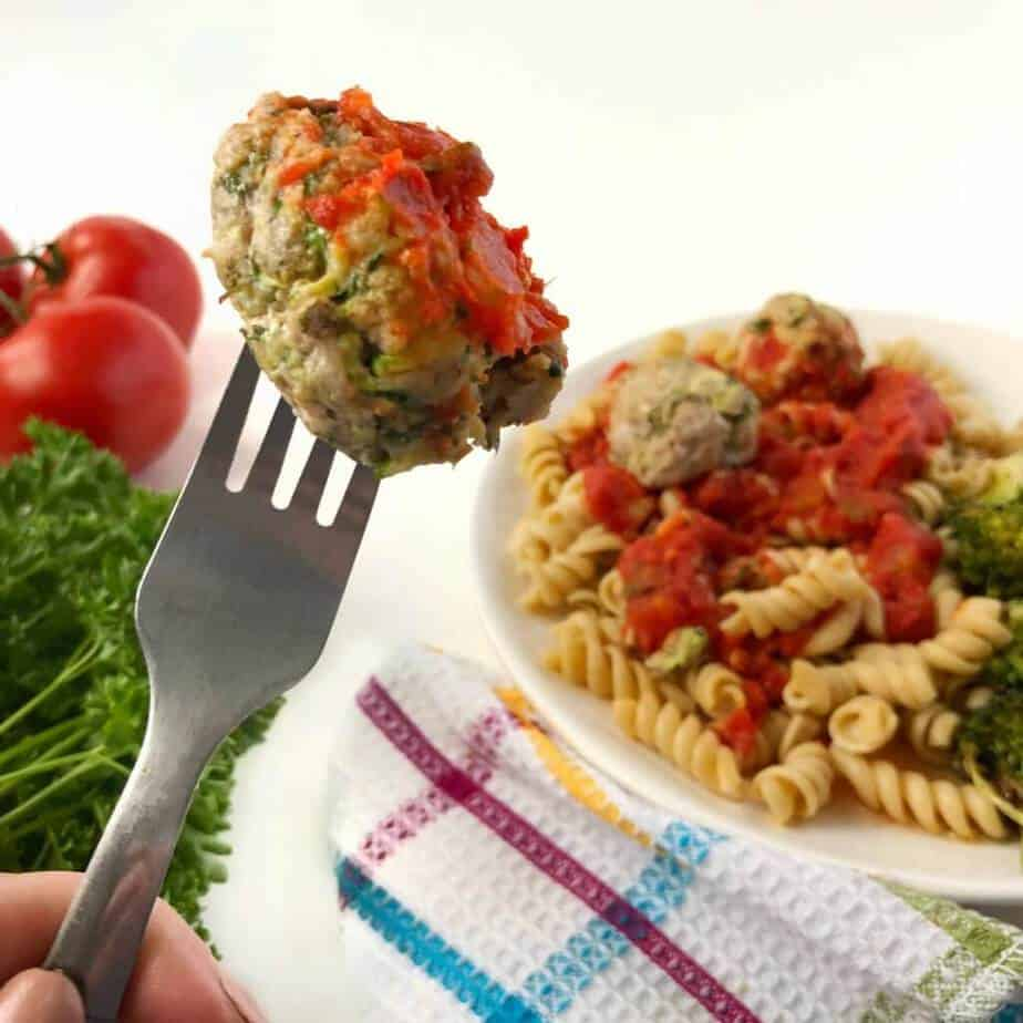 Easy Oven Baked Pork And Zucchini Meatballs Recipe