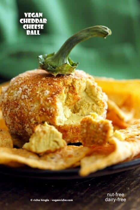 pumpkin shaped cheeseball