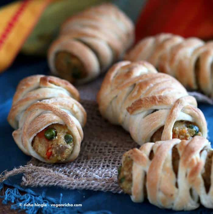 veggie sausage wrapped in pastry