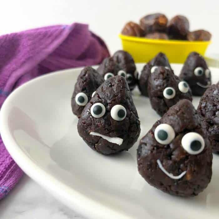Chocolate Energy Bites Recipe – Poop Emoji Party Style!