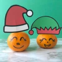 Santa And Elf Clementines- A Healthy Christmas Treat For Kids