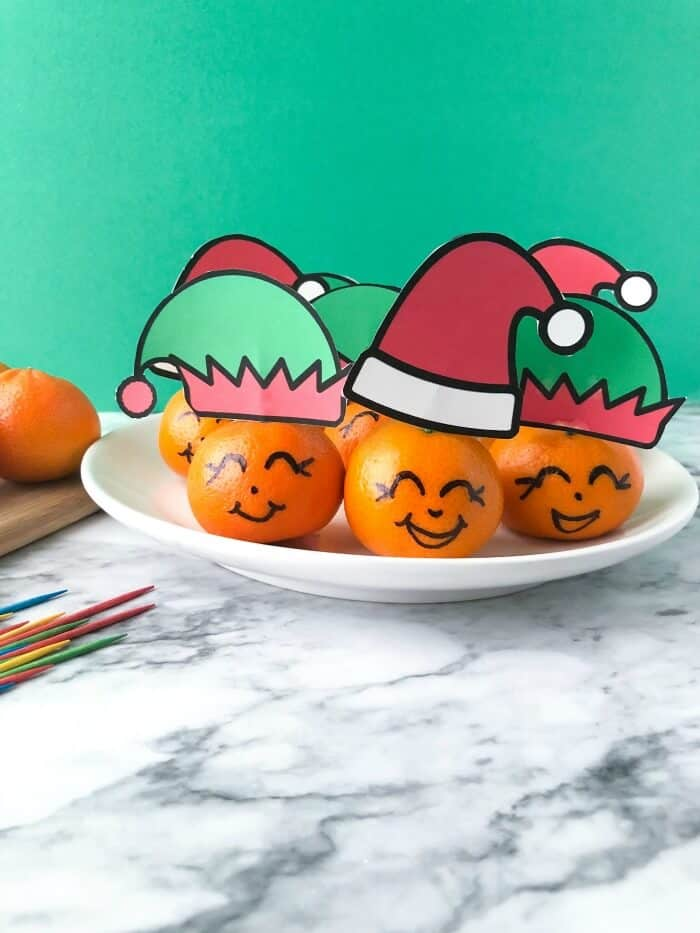 Clementine For Christmas.Santa And Elf Clementines A Healthy Christmas Treat For Kids