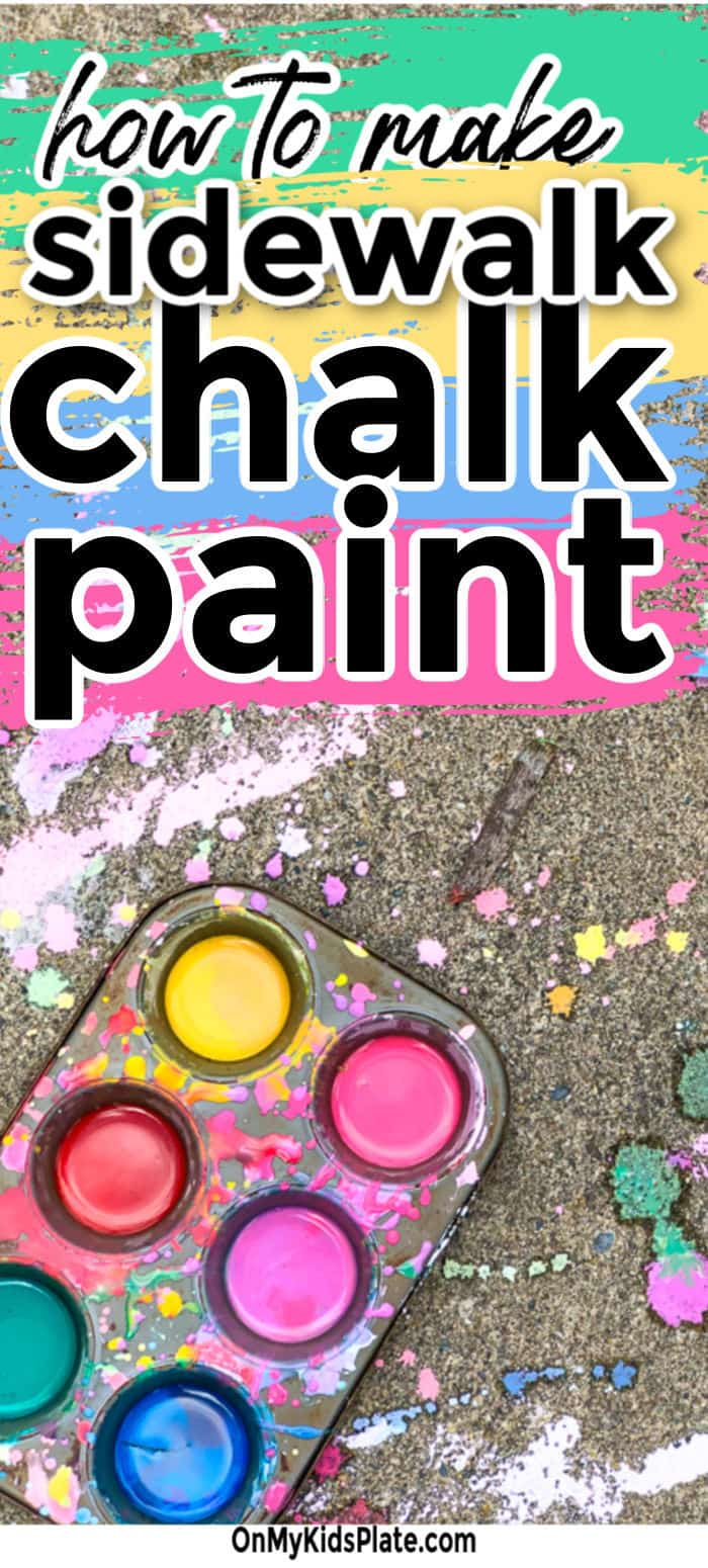 Learn how to make DIY sidewalk chalk paint and keep the kids busy. It's such a great DIY craft to have in your back pocket and is a kids activity you can make from your pantry. Let the kids be creative and fun on your porch!