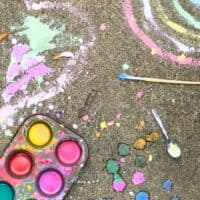Easy Homemade Sidewalk Chalk Paint Recipe (Washable!)