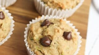One Bowl Zucchini Chocolate Chip Muffins
