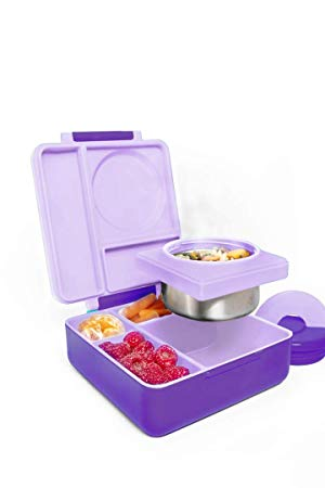 OmieBox Bento Box for Kids - Insulated Bento Lunch Box with Leak Proof Thermos